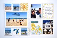 Page created by design team member Anna Kossakovskaya with the Scraptastic Club This Life Noted kit