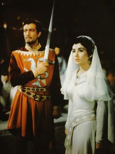 Ivanhoe- Elizabeth Taylor as Rebecca of York and Robert Taylor, by Sir Walter Scott-The character of Rebecca was influenced by Rebecca Gratz, who started the Jewish Sunday Schools in America