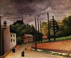 View of Malakoff : Henri Rousseau : Museum Art Images Henri Rousseau Paintings, Art Moderne, Naive Art, Art Plastique, French Artists, Art Images, Bing Images, Les Oeuvres, Landscape Paintings