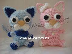 CANAL CROCHET: Gatos amigurumi patrón libre