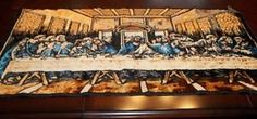 Antique Rare Italian Tapistry, The Last Supper - love it my family had this growing up! It's gone now but I love love it need it ! For my kitchen !