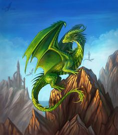 """A cover for a magazine """"The Chronicals of the Dragons"""" More information about it here: {~~The Chonicals of Dragons~~} I wish to see the clear blue sky and mountains from my window too, but the..."""