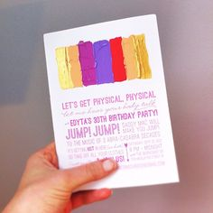 Fun painted invitation idea.