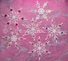 Free Crochet Snowflake Pattern...this is beautiful and so different!