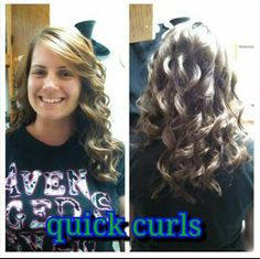 Quickly curled hair