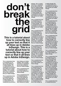A tutorial for good typography in InDesign - Setting up a baseline grid.