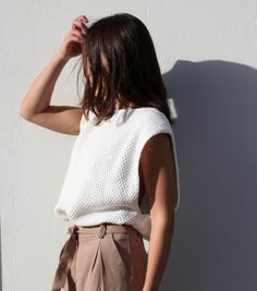 WHITE KNIT SWEATER – AnnaOhSailors