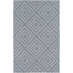 Hand Hooked Cotton/Viscose Rug (2' x 3') (Pewter), Beige, Size 2' x 3'