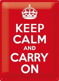 Keep Calm and Carry On 40's 50's 60's Classic Retro 3D Large Metal/Steel Wall Sign