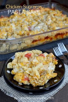 Chicken Supreme Pasta Bake - easy and very cheesy chicken and pasta dinner that everyone will love
