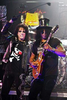 Slash and Alice Cooper.