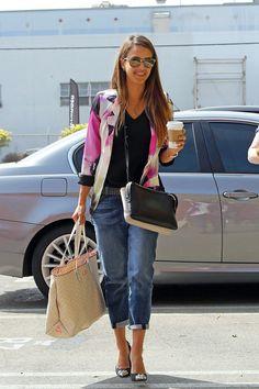 Jessica Alba Boyfriend Jeans