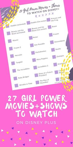 Looking for the best girl power movies and shows to watch? These 27 options on Disney Plus are must watch programming! Disney Home, Disney Diy, Disney Family, Female Heroines, Female Villains, Aladdin Live, Mal And Evie, Disney Plus, Kim Possible
