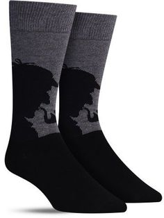Sherlock Holmes has been portrayed for entertainment consistently for more than 100 years, although we can guarantee these fun socks are much fresher than that. Break out the deerstalker hat and your Sherlock Outfit, Deerstalker Hat, Novelty Socks, Dress Socks, Cool Socks, Lilo And Stitch, Sherlock Holmes, Back To Black, Stylish Dresses