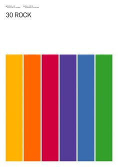 Minimalist Posters of TV Shows by Albert Exergian.  30 Rock