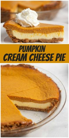 Pumpkin Cream Cheese Pie recipe from RecipeBoy.com #pumpkin #cream #cheese #creamcheese #pie #recipe #RecipeBoy Traditional Pumpkin Pie Recipe, Recipe Using Pumpkin, Easy Pumpkin Pie, Cheese Pumpkin, Pumpkin Cream Cheeses, Pumpkin Pie Recipes, Pumpkin Dessert, Pie Dessert, Dessert Recipes