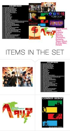 """""""30 Day Anime Challenge- Day 2"""" by anime-rocker ❤ liked on Polyvore featuring art"""