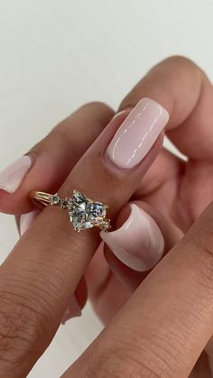 Heart Shaped Diamond Ring, Heart Shaped Engagement Rings, Heart Wedding Rings, Dream Engagement Rings, Silver Wedding Rings, Bridal Rings, Diamond Rings, Heart Shaped Promise Rings, Different Engagement Rings