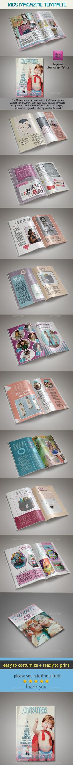 Xmas Kid Magazine Template
