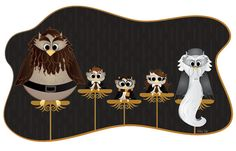 Harry Potter inspired owls by LoveAshleyDesigns - I'm in love with the little Harry!  $30 for an 11X17 print