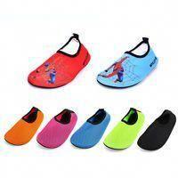 Hysenm Multi-Use Colorful Stipe Non-Slip Lightweight Skin Barefoot Socks Water Shoes for Yoga Swim Beach Running
