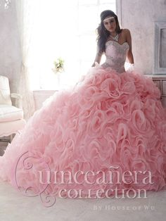 Aliexpress.com: Comprar Romántica rosa de encaje de novia desmontables faldas quinceañera vestidos con volantes de Organza con cuentas vestido de encaje hasta vestido de fiesta 2016 de Vestidos de Quinceañera fiable proveedores en Girls' Moment