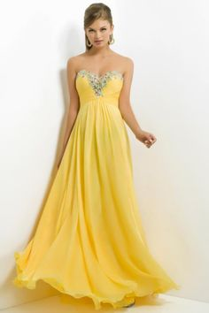 A Line Chiffon Sleeveless Swee theart prom Dress