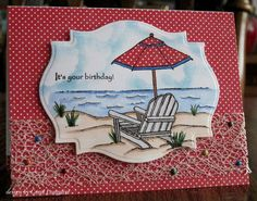 CL_SNSDC61 A Beachy Birthday by carol_PA925 - Cards and Paper Crafts at Splitcoaststampers