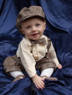 bowtie and suspenders wedding   ... Boys Vintage Style Knickers Outfit 5-pc With Suspenders, Bowtie