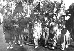 Anarchist militia, Barcelona. (1936) #Spain #war (9-9-2014 )