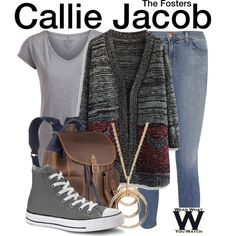 A fashion look from January 2015 featuring Chicwish cardigans, Pieces t-shirts and J Brand jeans. Browse and shop related looks. Tv Show Outfits, Cute Teen Outfits, Fandom Outfits, Hot Outfits, Outfits For Teens, Fashion Tv, Fashion Outfits, Womens Fashion, Fashion Trends