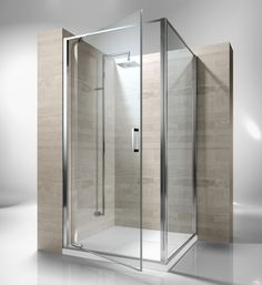 Framed shower enclosure with pivoting door. Reversible and extensible 4,5 cm in corner. Junior GA is incredibly versatile and suitable to solve multiple installation situations. Shower enclosures Junior by @vismaravetro   GA+GF