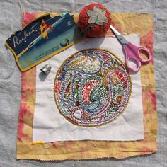 Paisley DIY Embroidery Sampler - Dropcloth. I am doing mine in Valdani...it refused to be stitched with anything else.