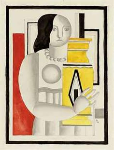 Fernand Léger (1881-1955)   Femme au vase   signed with the initials and dated 'FL 25' (lower right) gouache, watercolour and pencil on paper 12 3/8 x 9½ in. (31.3 x 24 cm.) Executed in 1925