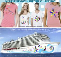 The exclusive #maritime motives from the Getaway #cruise ship graphic draft work! Anchor, rudder, seahorse & starfish #Tshirts in Kekeye Dots Design. Europe: http://www.webshop.kekeye.at/T-shirt-Creat…/Maritime-Shirts/ USA & Canada: http://www.kekeye.us/T-shirt-Creations/Maritime-Shirts/