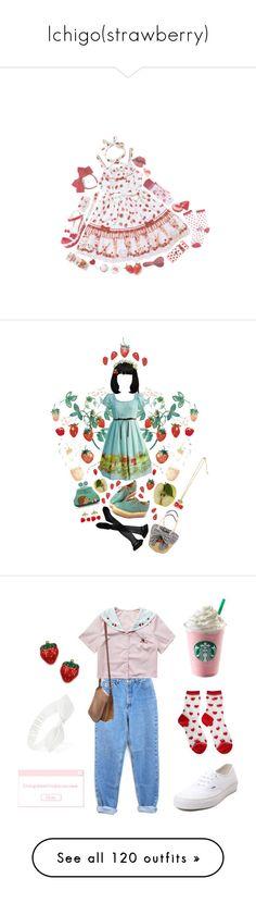 """Ichigo(strawberry)"" by magicalbadgirl2606 ❤ liked on Polyvore featuring strawberry, SweetLolita, Forever 21, Randa, Carole, Trasparenze, INC International Concepts, Vans, Coach and Cuteberry"