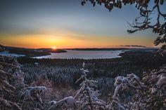 Winter sunset atop Mäyrävuori Winter Sunset, Celestial, Outdoor, Outdoors, Outdoor Games, Outdoor Living