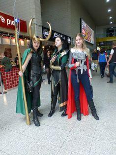 Marvel Thor and Loki cosplay. May 24th London MCM Expo. Lady Loki.