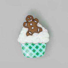 Weihnachtsknopf Cupcake 2 - Kunststoff - Farbmix. Auf jeden Fall ein weihnachtlicher Hingucker!