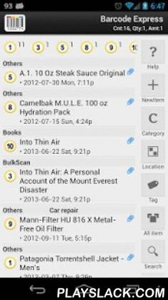 Barcode & Inventory Demo  Android App - playslack.com , BARCODE EXPRESS DEMOThe ultimate Inventory, Asset & Collection Manager.Have CD, DVD, Game, Book collection?Need to keep track of your large inventory?Need to organize the items in your home or office?Need to organize shopping list?Want regular check for your asset inventory?Barcode Express has the solution.The most serious, comprehensive inventory management app in Android market.DEMO VERSIONThis is two weeks trial version. If you…