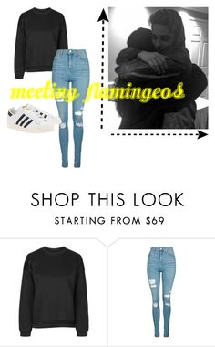 """Meeting Flamingeos : RTD"" by miabell22004 on Polyvore featuring Topshop, adidas Originals, imagine, goals, rtd, shestolemybae and flamingeos"