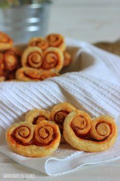 Unas palmeritas con chorizo deliciosas, originales, rápidas y fáciles de hacer. Con sólo tres ingredientes!