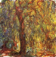 bofransson:  Weeping Willow - Claude Monet