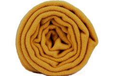 Écharpe jaune en laine moutarde