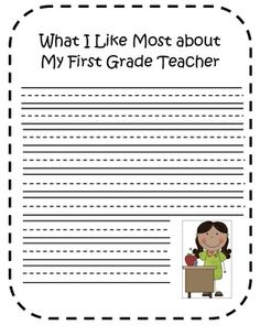 First Grade End of the Year Writing Activity