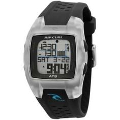 Rip Curl Men's Trestles Oceansearch Pre-programmed Tide Watch with Polyeurethane Band Rip Curl, Surf Watch, Always On Time, Time And Tide, Grey Watch, Countdown Timer, Swim Shop, Digital Watch, Casio Watch