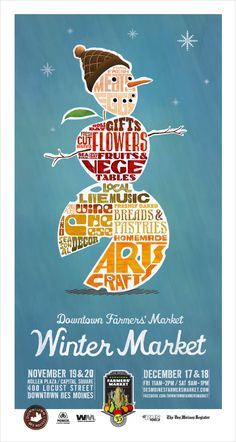Red Dot Advertising + Design | 2010 Winter Downtown Farmers' Market Poster