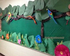 "jungle photo bulletin board - ""The Wild Bunch"""
