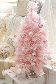 Jennelise: Pink Trees and Presents