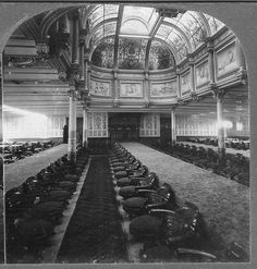 White Star liner Teutonic 1st class dining saloon 1889